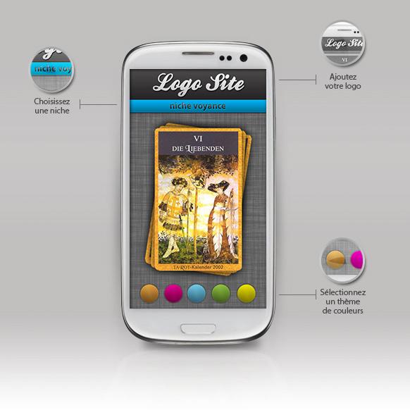 Site marchand mobile avec votre logo